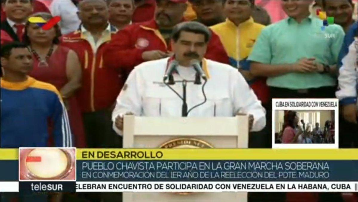 #LIVE | President of Venezuela, .@NicolasMaduro I will never surrender to the American Empire. I will always be willing to walk and move forward on the ways of national sovereignty.