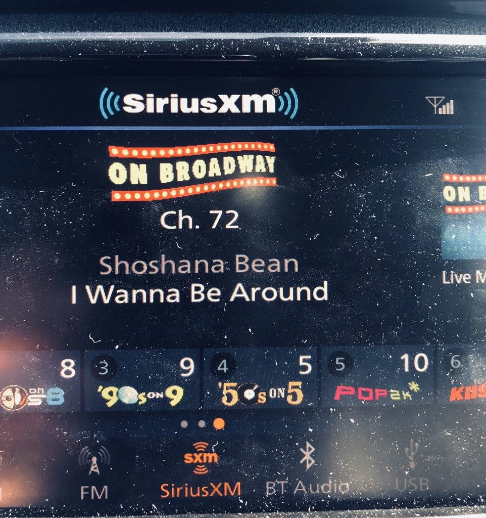 When your commute gets better because @SIRIUSXM played @ShoshanaBean!! #onbroadway #iwannabearound #spectrumpic.twitter.com/7CJNnPWEnn
