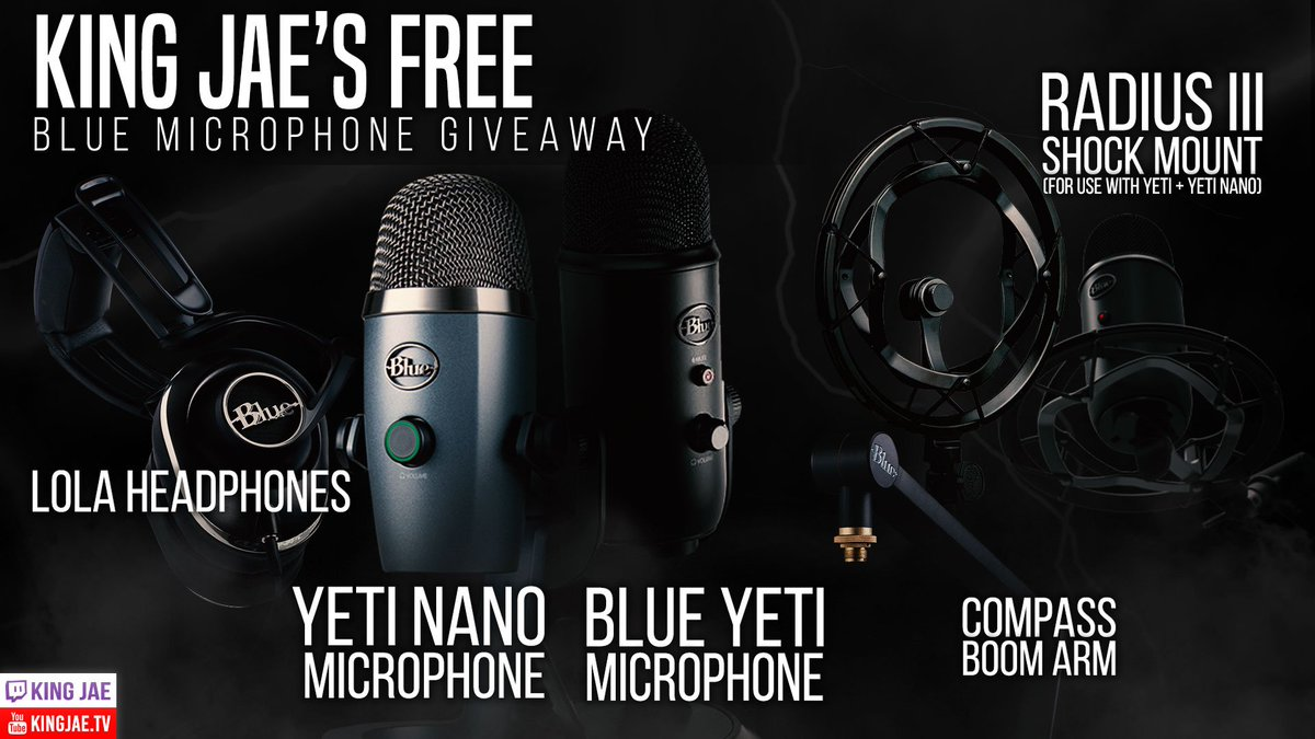 ✅BLUE MICS GLOBAL GIVEAWAY✅  If you know someone who CREATES CONTENT, PODCAST, STREAMS or they need a mic, tag them to this giveaway!  1. Follow me and @bluemicrophones  2. Retweet the post  3. Enter by clicking the link below URL: https://gleam.io/competitions/YeiOz-blue-microphones-may-giveaway…