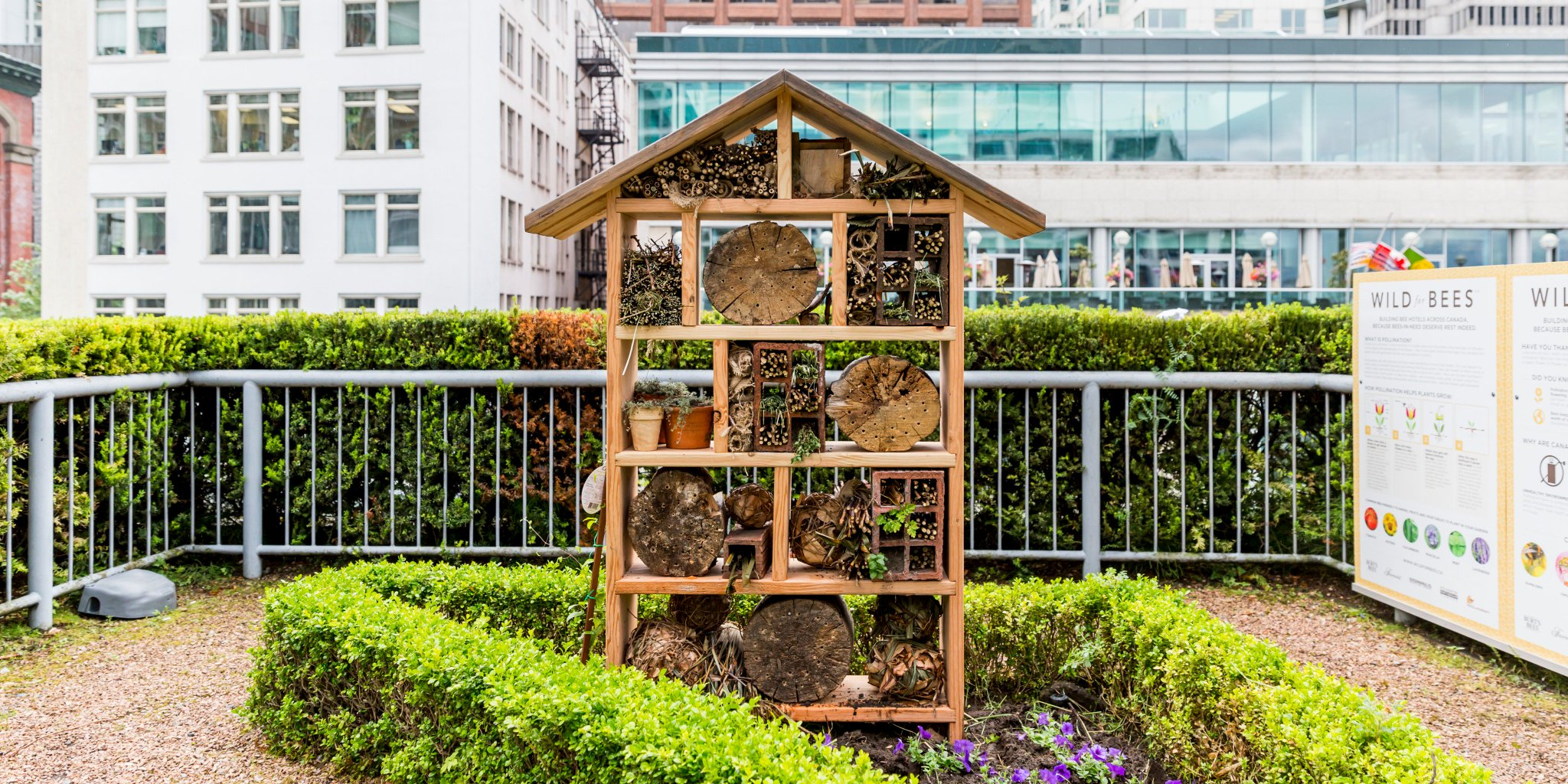 Fairmont Waterfront On Twitter Happy Worldbeeday Did You Know We Re Also A Bee Bee With The Help Of Hives4humanity We Built A Pollinator Hotel In Our Garden To Support Local