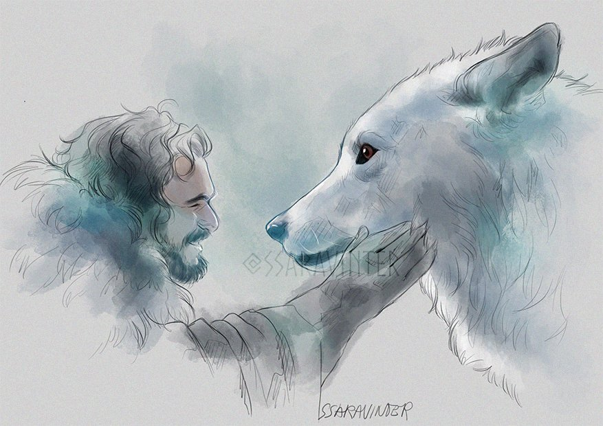 #GameOfThonesFinale #GOTfinal #GoTSpoilers #JonSnow #Ghost The only thing that matters to me💙