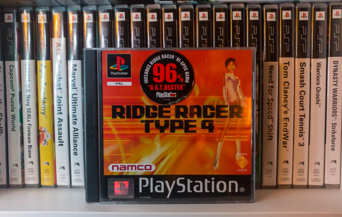 This #PS1day needs no introduction. It's the legendary Ridge Racer Type 4 and it's the best racing game on PS1. I love this game with my whole heart @ObviouslyTeri @Gothweet @GtoTheNextLevel