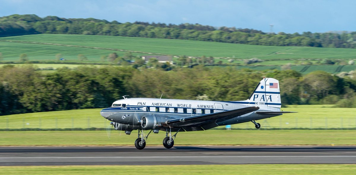 RT @BunkerAlpha: The first DC-3 Dakota Clipper Tabitha May arrived at #PrestwickAirport earlier this evening but will be leaving before Thursdays arrivals of 11 aircraft from the USA #AvGeek #RadioGeek #DaksOverPrestwick #DaksOvetNormandy #DDay75
