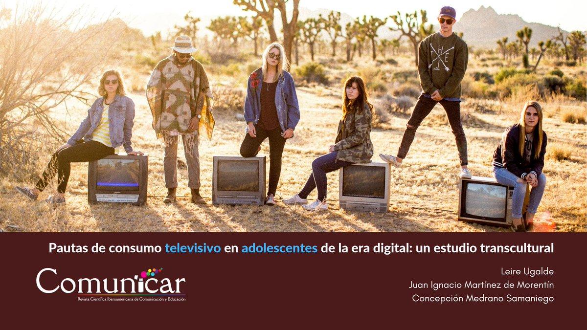 Cómo consumen la #television los #jóvenes para crear estrategias de capacitación. Se han estudiado las pautas de consumo televisivo de 553 adolescentes de #Irlanda, #España y #México, de edades entre 14 y 19 años. https://doi.org/10.3916/C50-2017-06……… http://dlvr.it/R54xNR