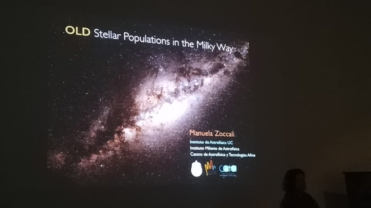 Já no 1º dia de #ValongoWS4, vários assuntos astronômicos interessantes!M. Zoccali falou sobre a formação da Via-Láctea e arqueologia Galáctica; F. Bauer apresentou propriedades de buracos negros supermassivos; e L. Pérez comentou formação estelar e detecção de exoplanetas.