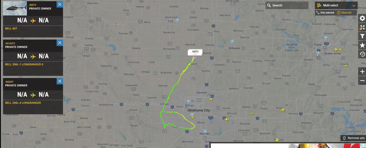 3 news helicopters watching severe weather in Oklahoma right now.. #avgeek #aviation #potn