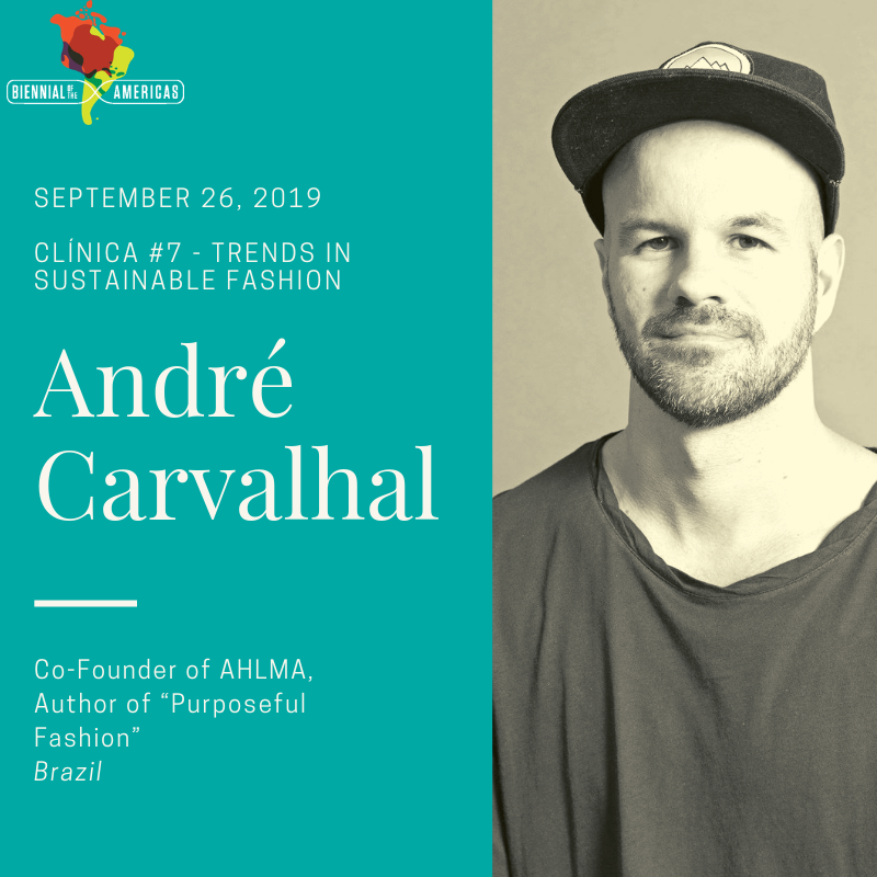#Sustainability is becoming fashionable – literally. The #fashion industry may be the second largest polluter in the world, but forward-thinkers like Brazil's André Carvalhal see this problem as an opportunity. See Andre speak on our sustainable fashion clínica at #BOTA2019