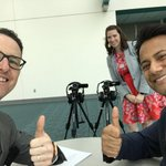 Image for the Tweet beginning: Thumbs up! With @FITWITMD recording