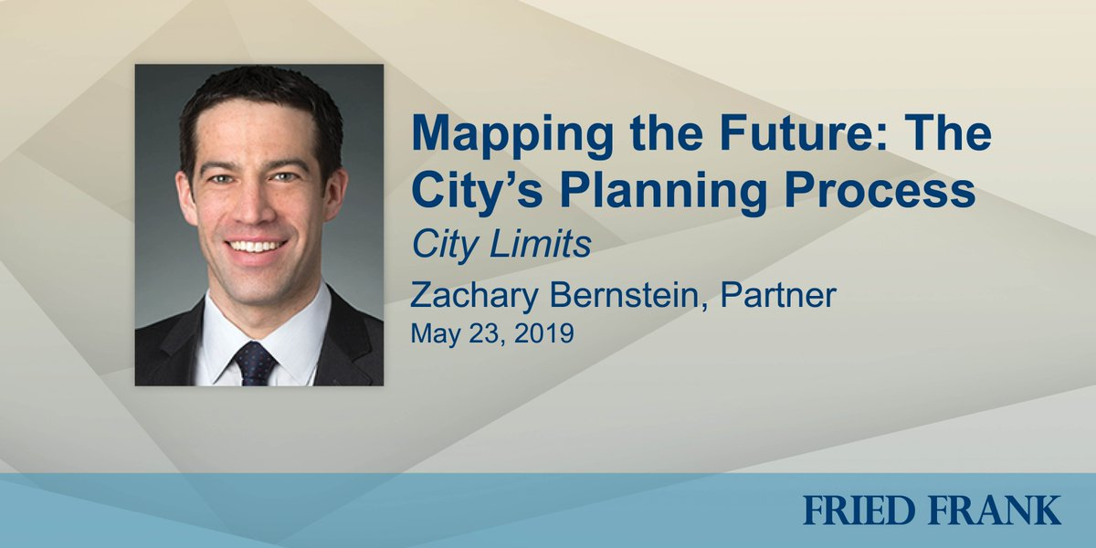 """This Thursday, real estate partner Zachary Bernstein will speak on the panel """"Mapping the Future: The City's Planning Process"""" hosted by @CityLimitsNews and moderated by Executive Editor @jarrettmurphy. Details here: http://bit.ly/FFSP39 #realestate #citymapping"""