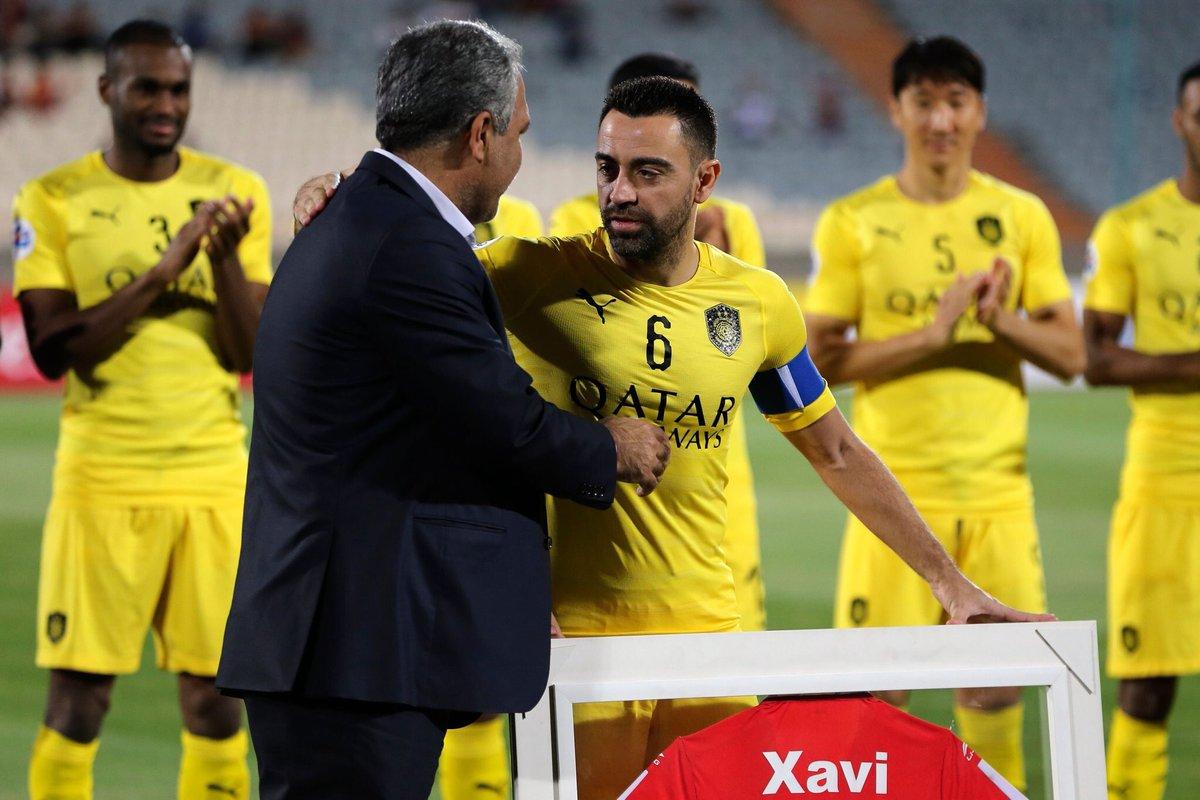 Xavi, kariyerindeki son maçına çıktı. 😢