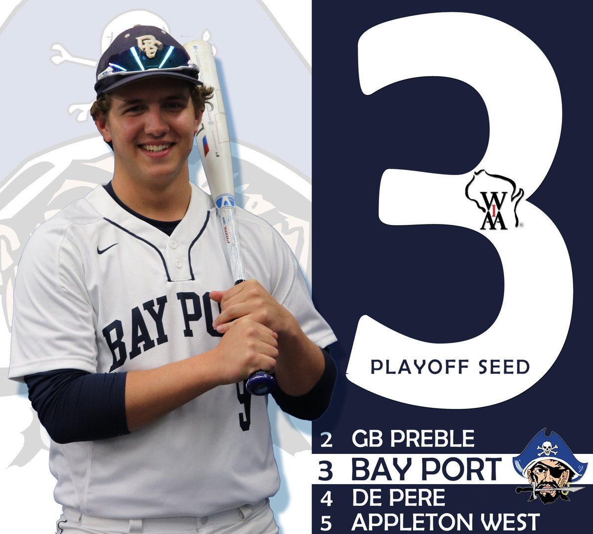 @bayportbaseball earns a #3️⃣ Seed in the @wiaawi Sectional  ⚾️The Pirates will open up with a Regional Final hosting Winner of #6️⃣ @HVille_Baseball vs. #1️⃣1️⃣ @gbeastwest   ⚓️Thursday, May 30th 4:30 First Pitch from @BayPortHS   ⚾️ http://halftime.wiaawi.org/CustomApps/Tournaments/Brackets/HTML/2019_Baseball_Boys_Div1_Sec2_8.html…