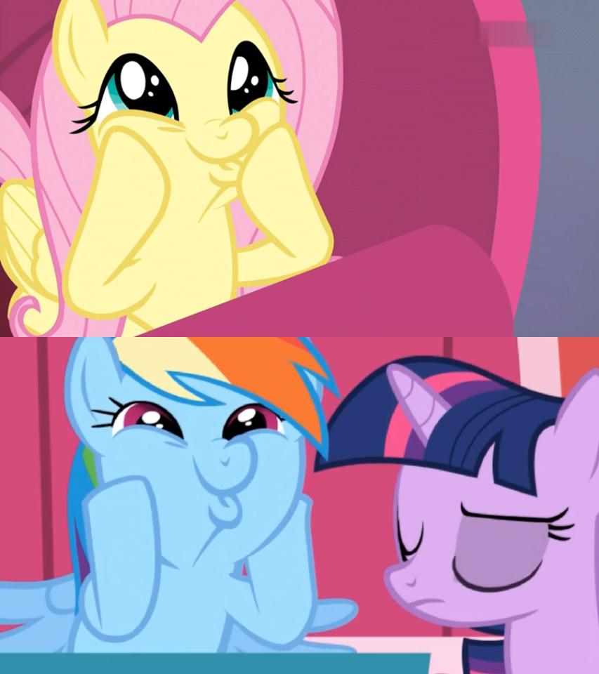 When their thoughs are sync (in a funny face).  #brony #shipping #Fluttershy #RainbowDash #MyLittlePony<br>http://pic.twitter.com/MZ0U6IVnps