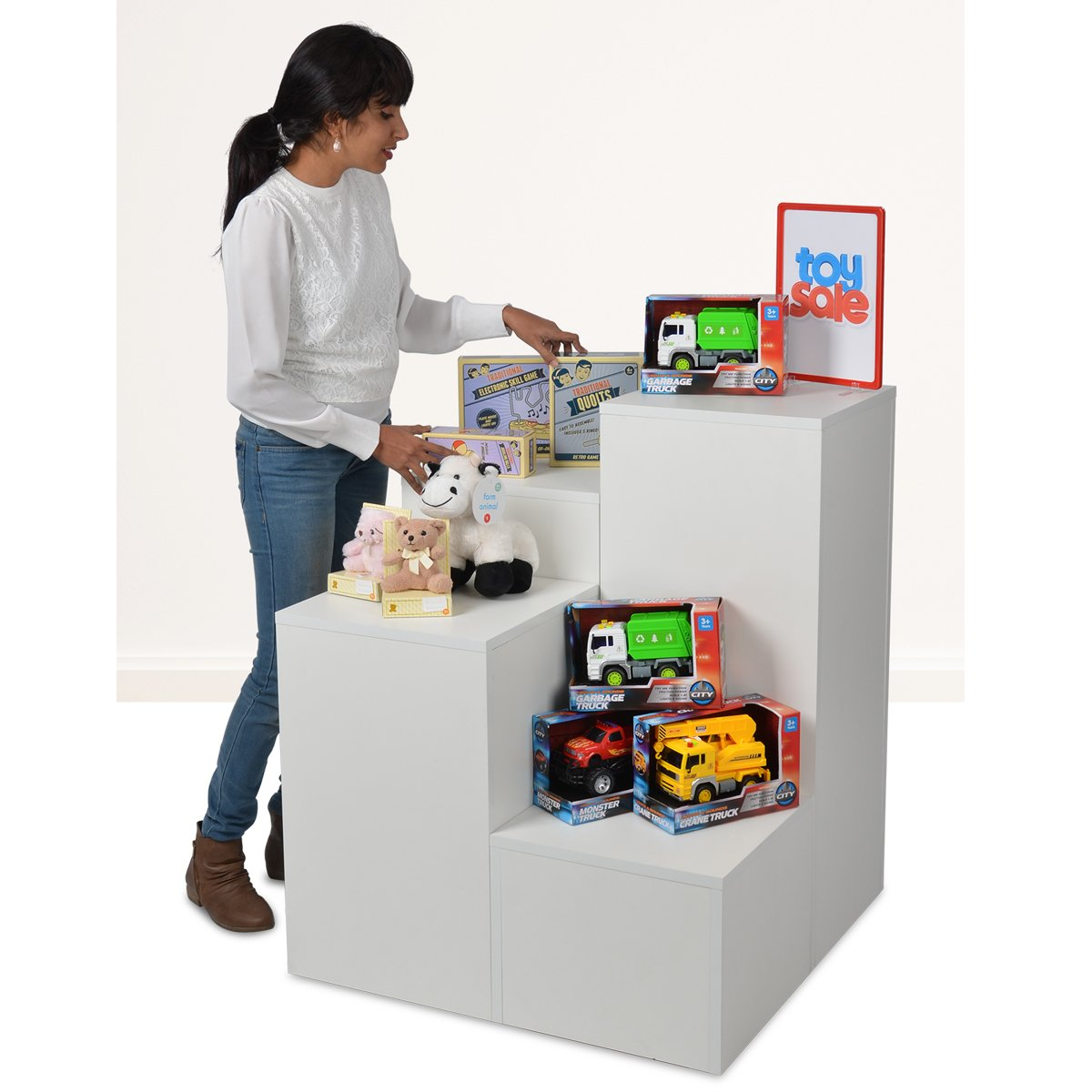 Plinths are a great way to highlight products, they come in a range of different heights allowing you to add dimension and aesthetic appeal to your store displays.   Shop our range today! https://t.co/294T5RGBwh https://t.co/jCTGbyvQ1E