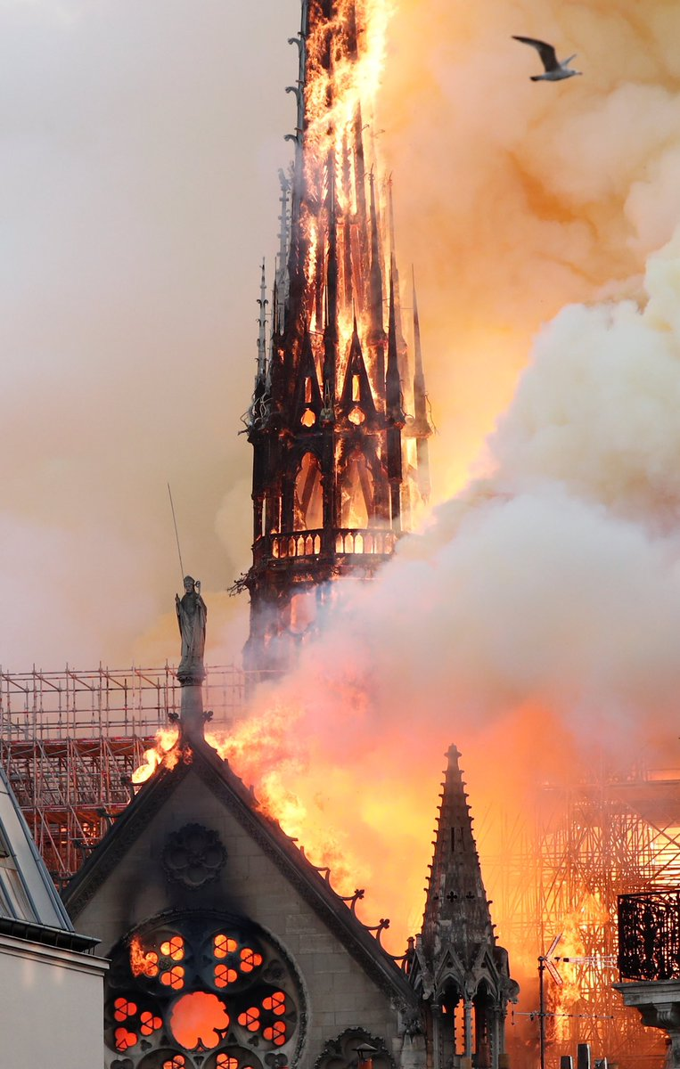The fire that engulfed #n0tredameparis struck the hearts of Christians who, during #HolyWeek,  contemplate the Passion and death of Jesus Christ. We mourn the damage  to this iconic cathedral, which represents the highest form of art and  architecture that inspires us to faith.