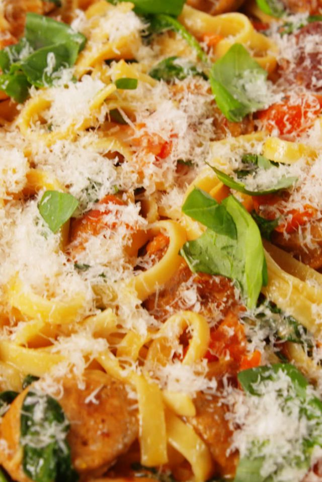 What's for #dinner? How about this creamy Tuscan sausage #pasta dish?  http://cpix.me/a/72361306
