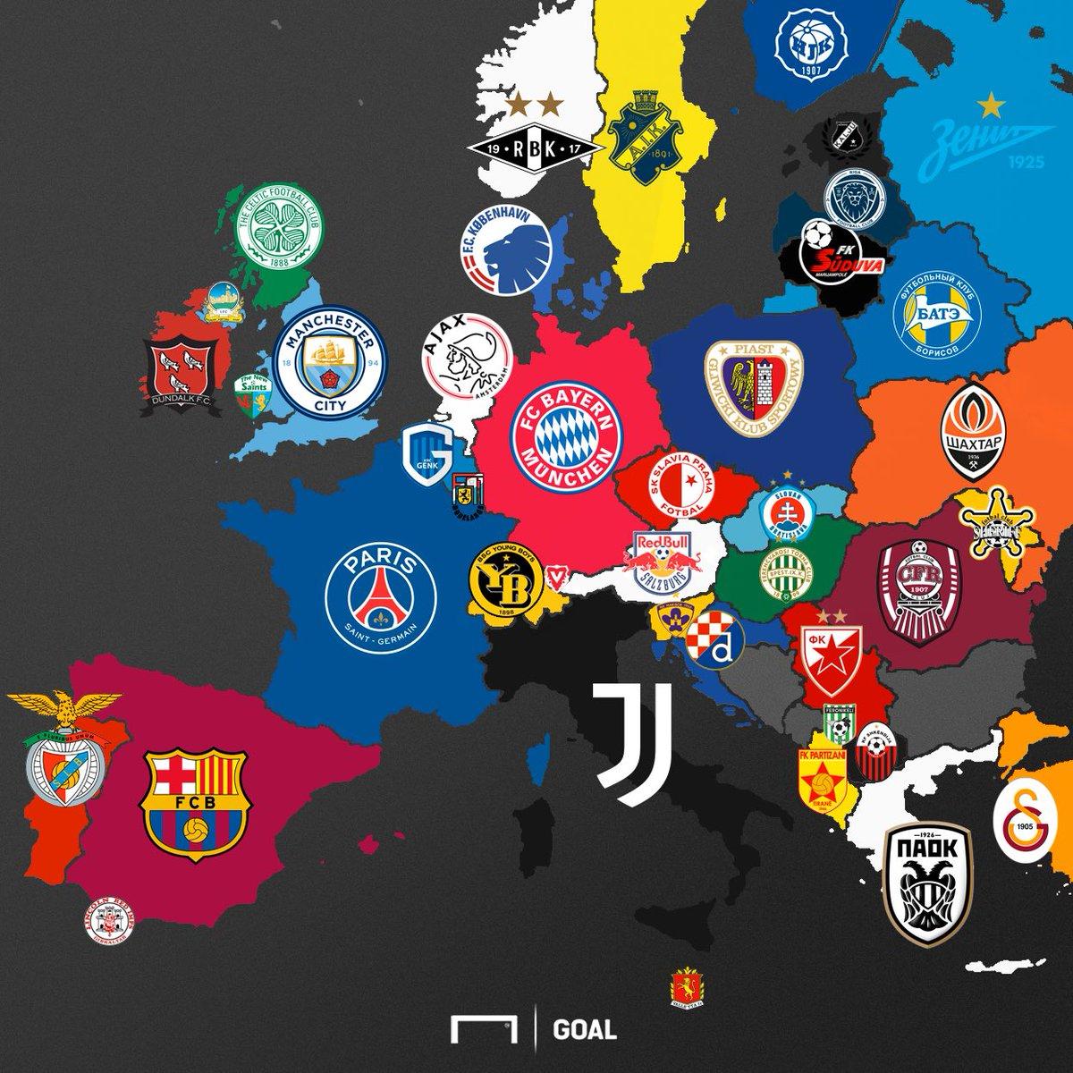2018-2019 sezonu şampiyonluk haritası 🗺