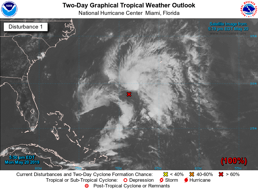 National Hurricane Center's photo on Subtropical Storm Andrea
