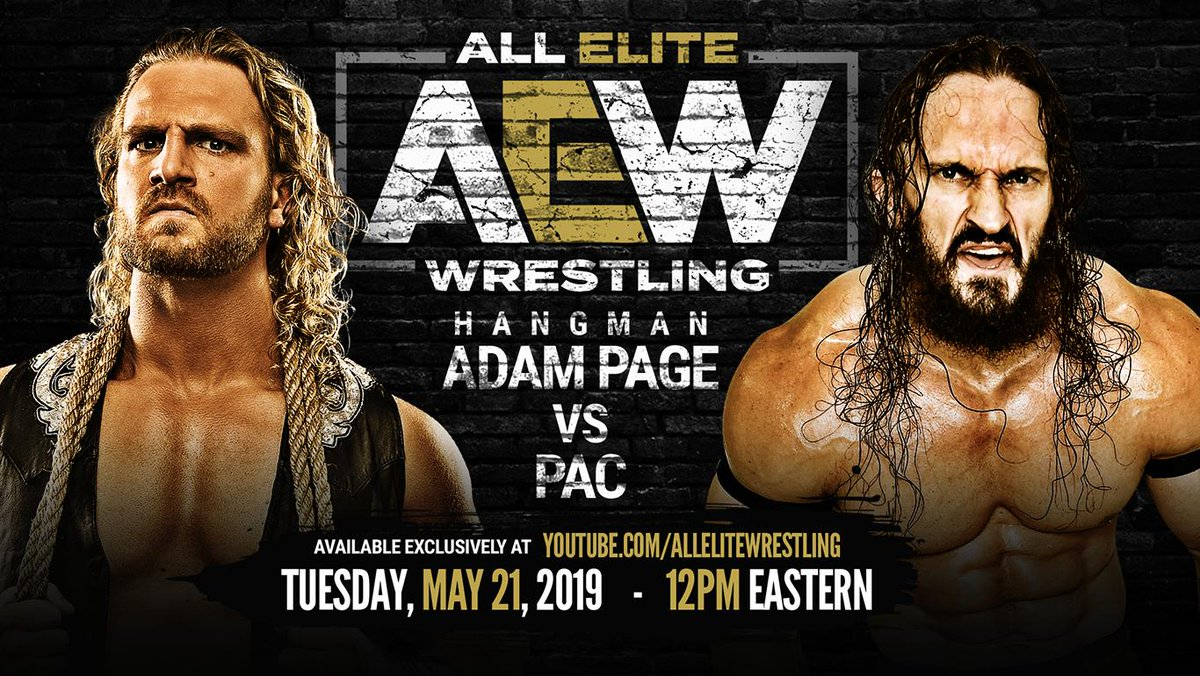 Watch @theAdamPage take on @BASTARDPAC Exclusively on #AEW's Official @Youtube channel - Tuesday, May 21st, 12pm Easternhttps://youtu.be/gjCSeXMjtJw subscribe now - http://youtube.com/allelitewrestling …