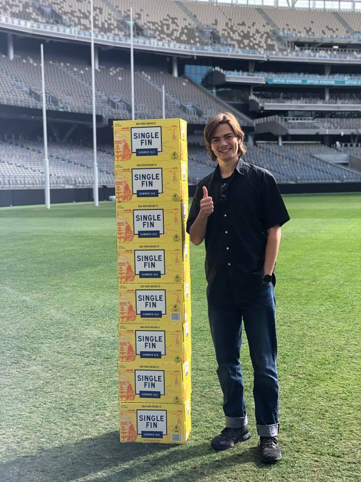 Congratulations to our winner of the 'Win Your Height in Beer' competition 🍺  Preston walked away with 8 cartons thanks to our friends at Gage Roads.  Thank you to everyone who entered!