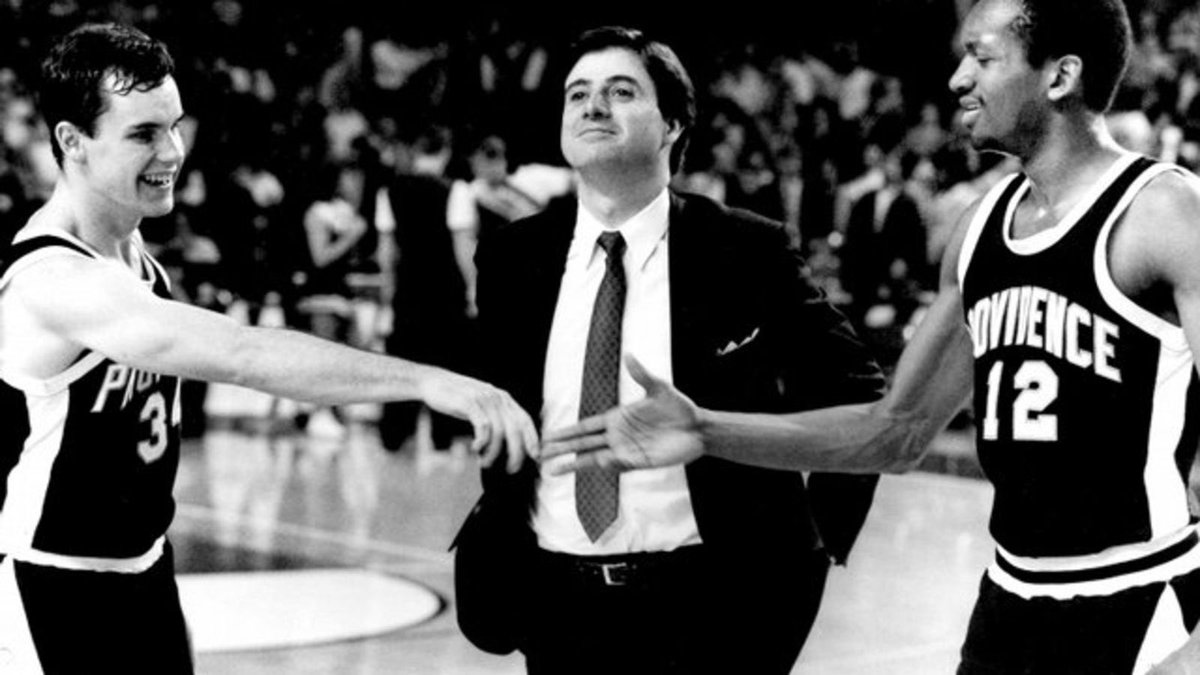 With Cooley out the door. Take a look at this gem.   Rick Pitino Billy Donovan  But we all know Providence would end up hiring some nobody. I won't let myself get excited again. St. John's hurt me too badly for that <br>http://pic.twitter.com/4r38I9emml
