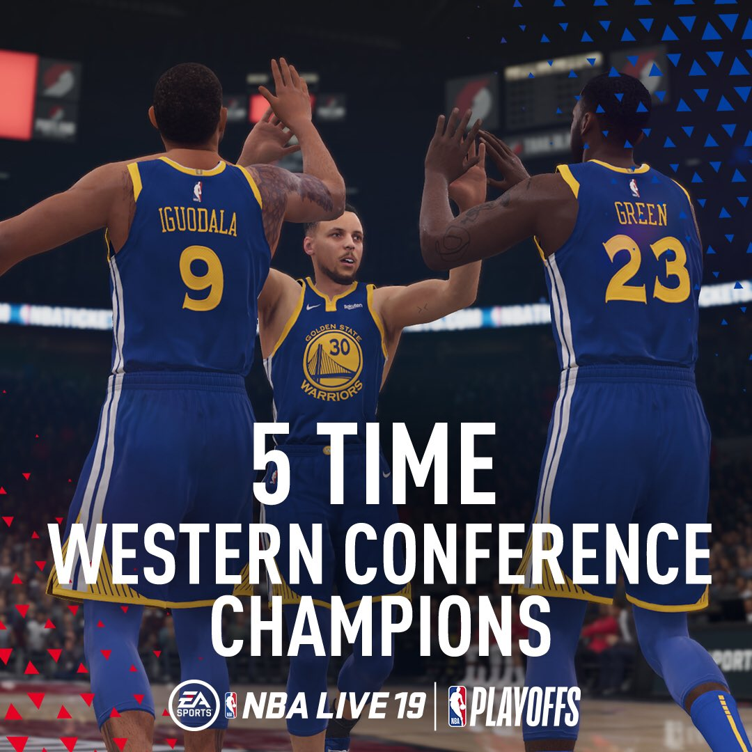 YOUR WESTERN CONFERENCE CHAMPIONS!!   #DubNation | #NBALIVE19