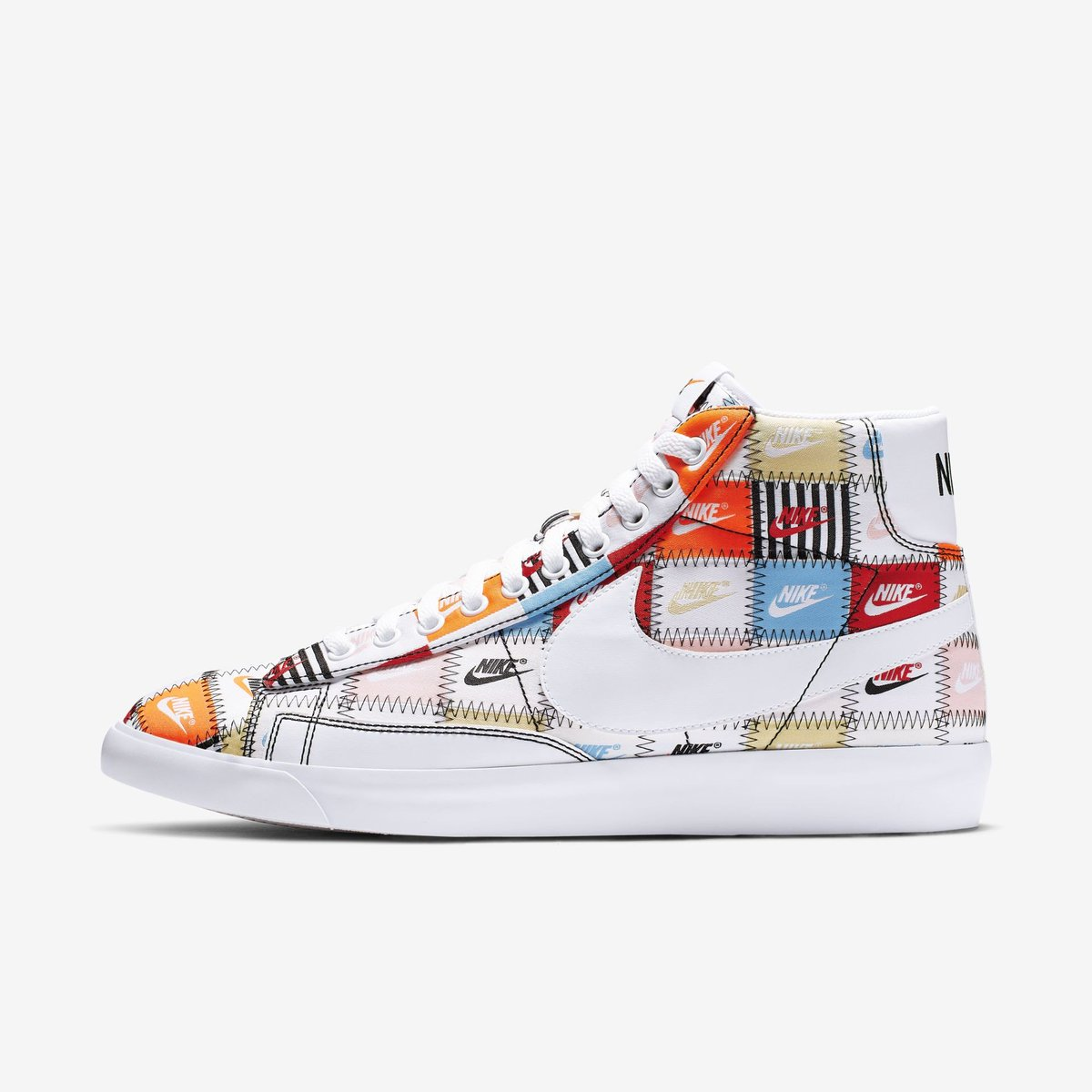 "e454500dfcc1 Nike Blazer ""Patchwork"" available now on Footaction  115 + FREE shipping  Link -  https   go.j23app.com c3r pic.twitter.com AJ5guX4t40"