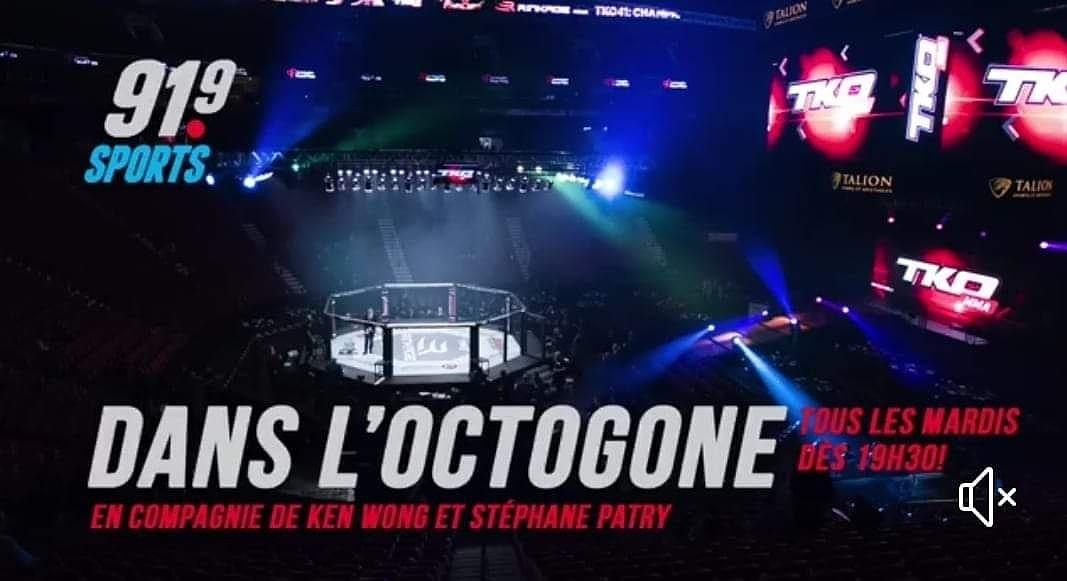 Ce mardi Dans L'Octogone du 91.9 Sports  En mode #TKO48  Corinne Laframboise  Xavier Alaoui  Taylor Lapilus Patrick Marcil