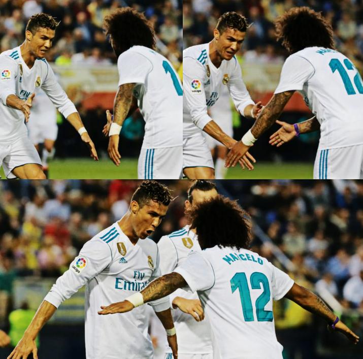 Se cumplió 1 año de la última vez que Cristiano Ronaldo y Marcelo festejaron un gol juntos en el Real Madrid. Sí, la última anotación de CR7 como madridista fue con asistencia de su gran amigo. #JustoEnElCora