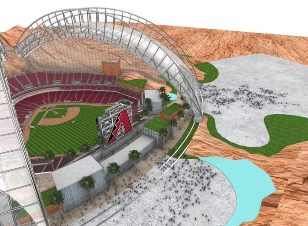Possible leaked photos of the Dbacks concept design for a new stadium in Scottsdale(?) if they leave Chase Field. Thoughts? 🤔