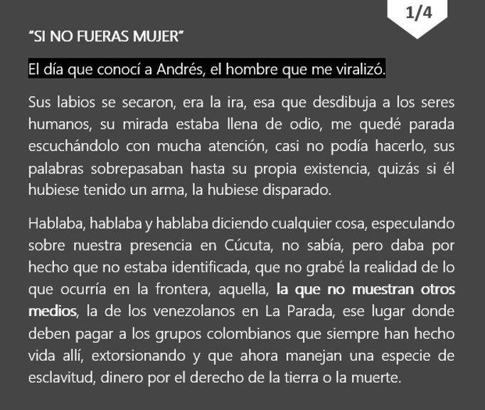 Andrés Cárdenas le pidió a Madelein García que dijera la verdad, y eso hizo ella. Un gusto conocerte.