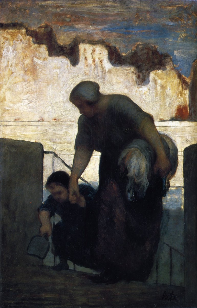 A truly amazing painting.   The Laundress #HonoreDaumier Original Title: La blanchisseuse Date: c.1860 - c.1861; France  Style: Realism <br>http://pic.twitter.com/VnQ2Chi2KY