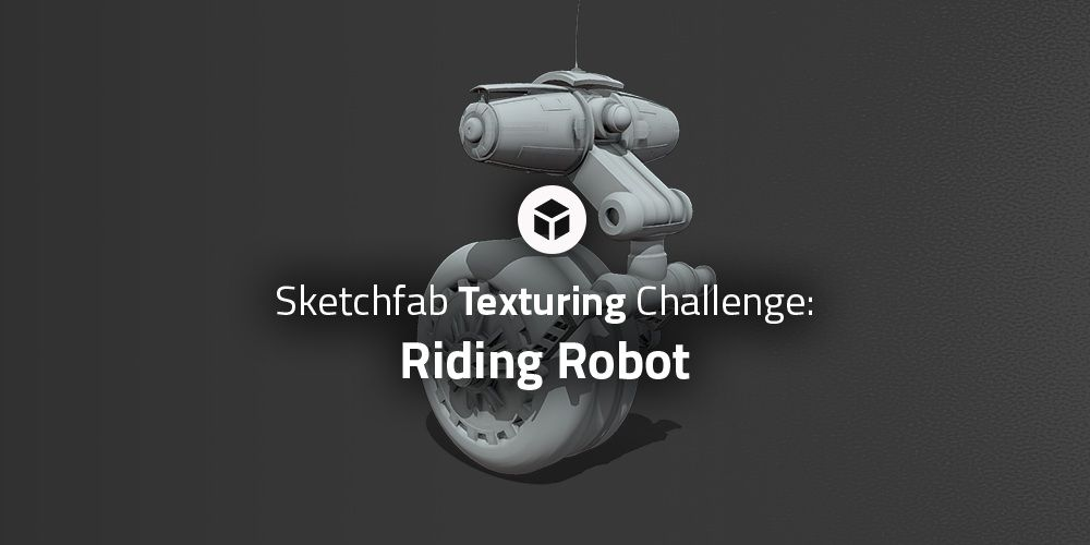This week we challenge you to texture a robot. Just download the model, texture it, and upload it to Sketchfab, #RobotTextureChallenge. bit.ly/2JSmdyH