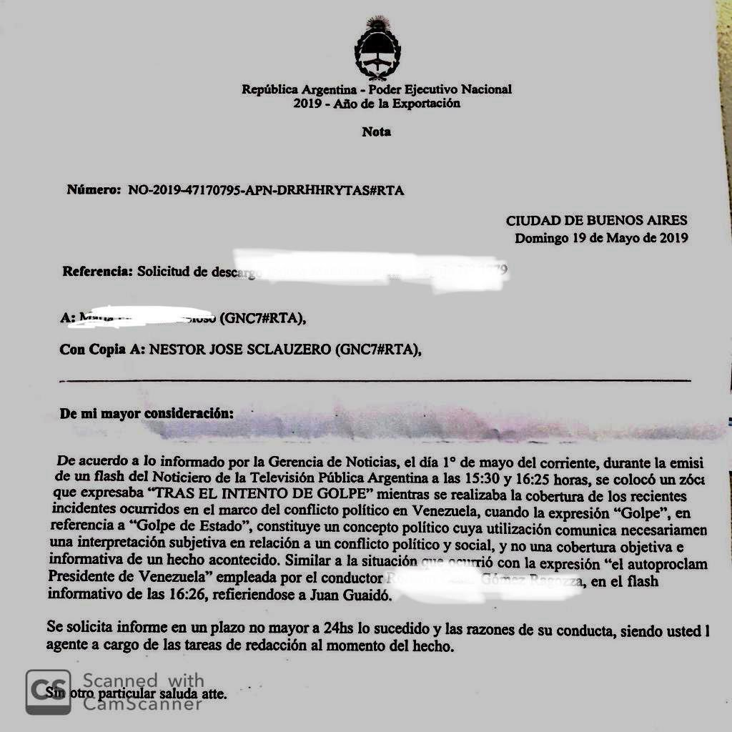 Libertad de Expresión según @mauriciomacri. Qué dice el Sr. @herlombardi ? #PersecucionEnTVP