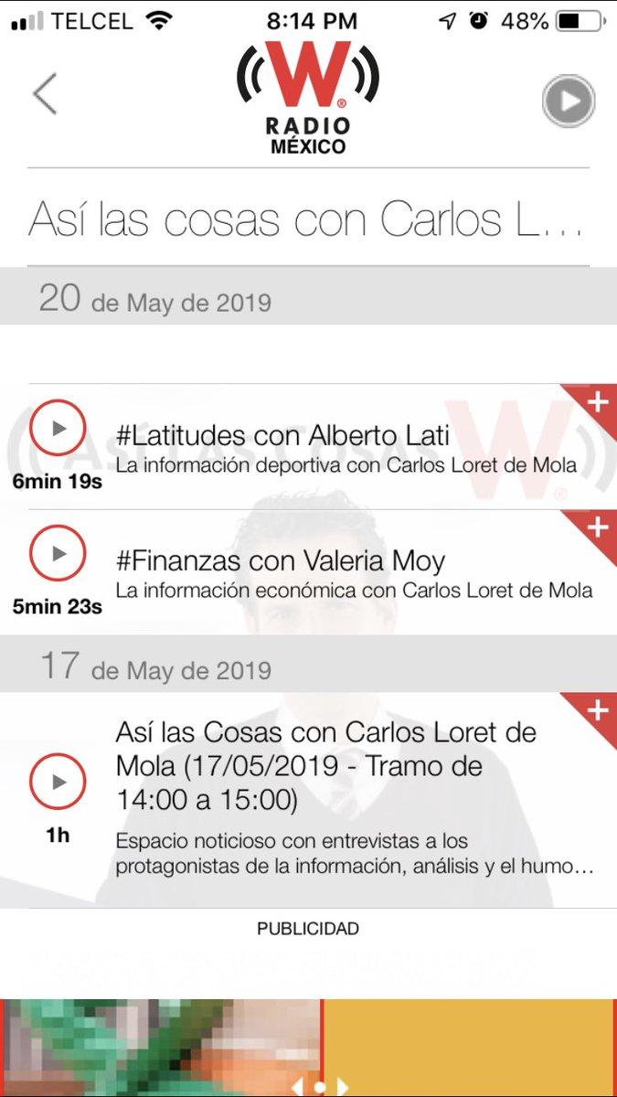 @WRADIOMexico faltaron los segmentos de 1 a 2 y de 2 a 3 en los podcast de #AsiLasCosasConLoret del día de hoy 20 de mayo !!!!!!!! @CarlosLoret