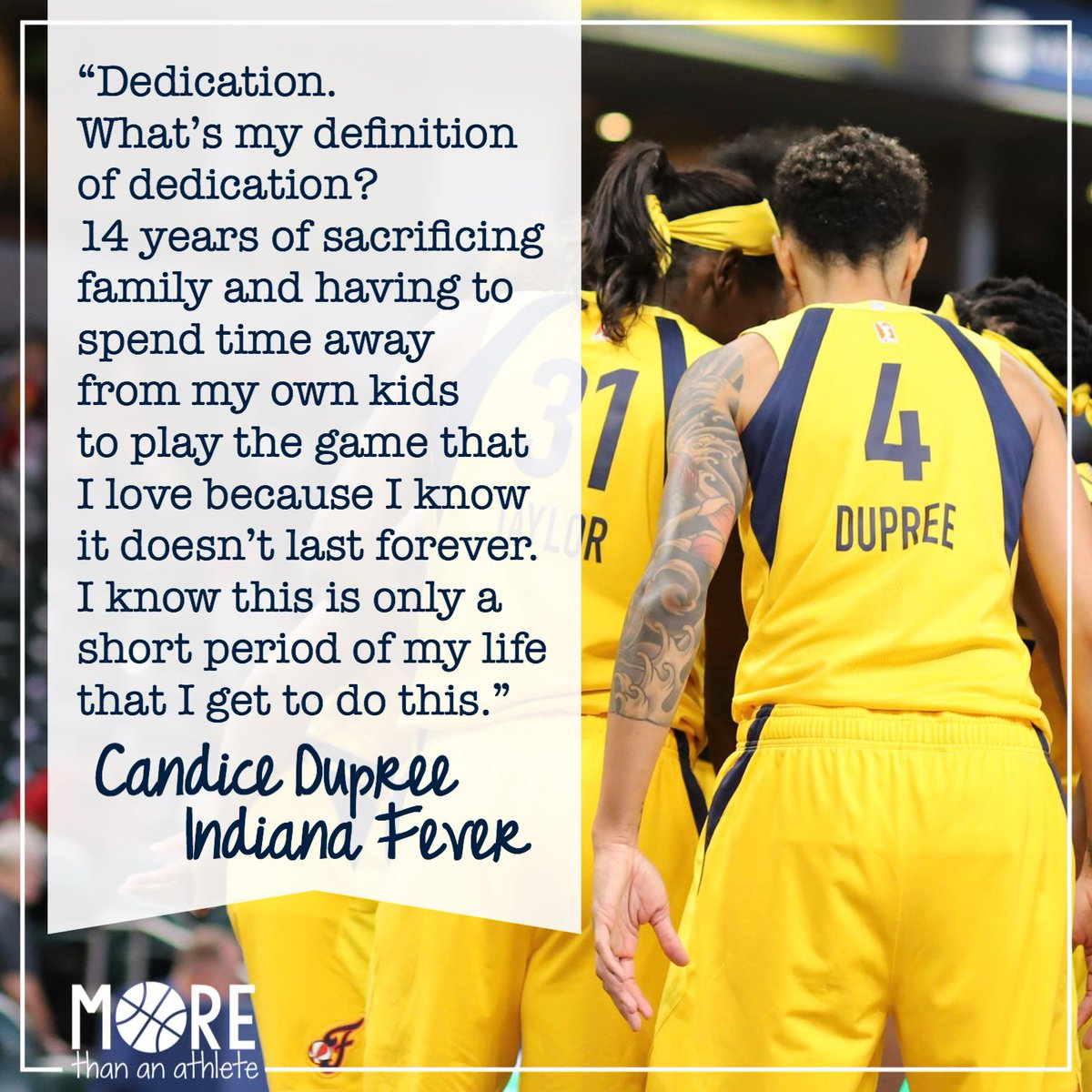 .@CandiceDupree_4 on what dedication means to her.  #WNBATwitter #WNBA #Fever20 #IndianaFever https://t.co/hZfzQbiK1Z