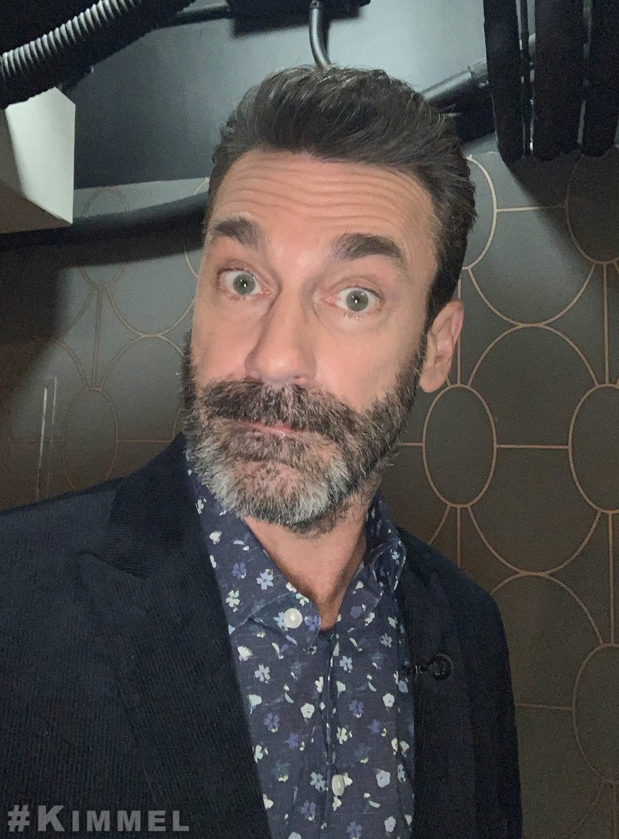 Backstage at #Kimmel with Jon Hamm #GoodOmens <br>http://pic.twitter.com/jR4t4Dh6YH