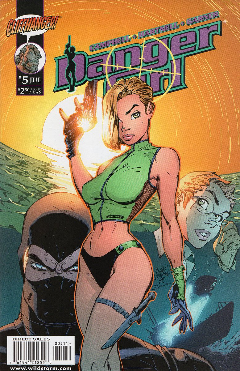 Danger Girl #5 by @JScottCampbell, Andy Hartnell, @AlexGarnerArt and @JPonsor. Published 20 years ago this month. #DangerGirl #AbbeyChase