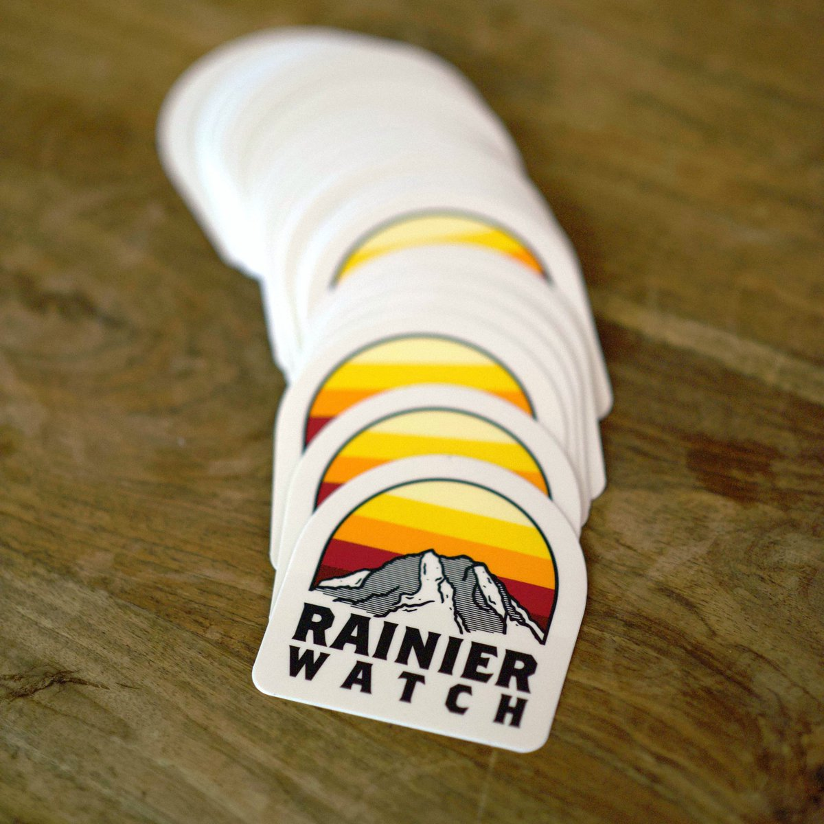 New rainier watch stickers that are now live on the rw shop printed by diecutstickersdotcom