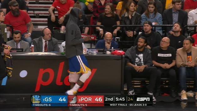 Colin Kaepernick Is At Tonight's Warriors-Blazers Game