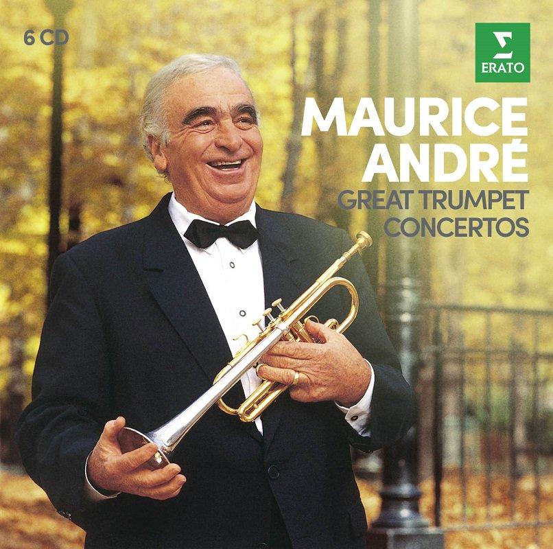 本日(5/21)は、20世紀最高のトランペット奏者のひとり【モーリス・アンドレ】が、1933年に生まれた日🎂 バロックから現代音楽まで、様々な時代のトランペット協奏曲を収録した6枚組激安BOXが発売中。とにかくトランペットで完璧に吹きこなす至芸は圧巻! https://t.co/RsRmOqPd1H