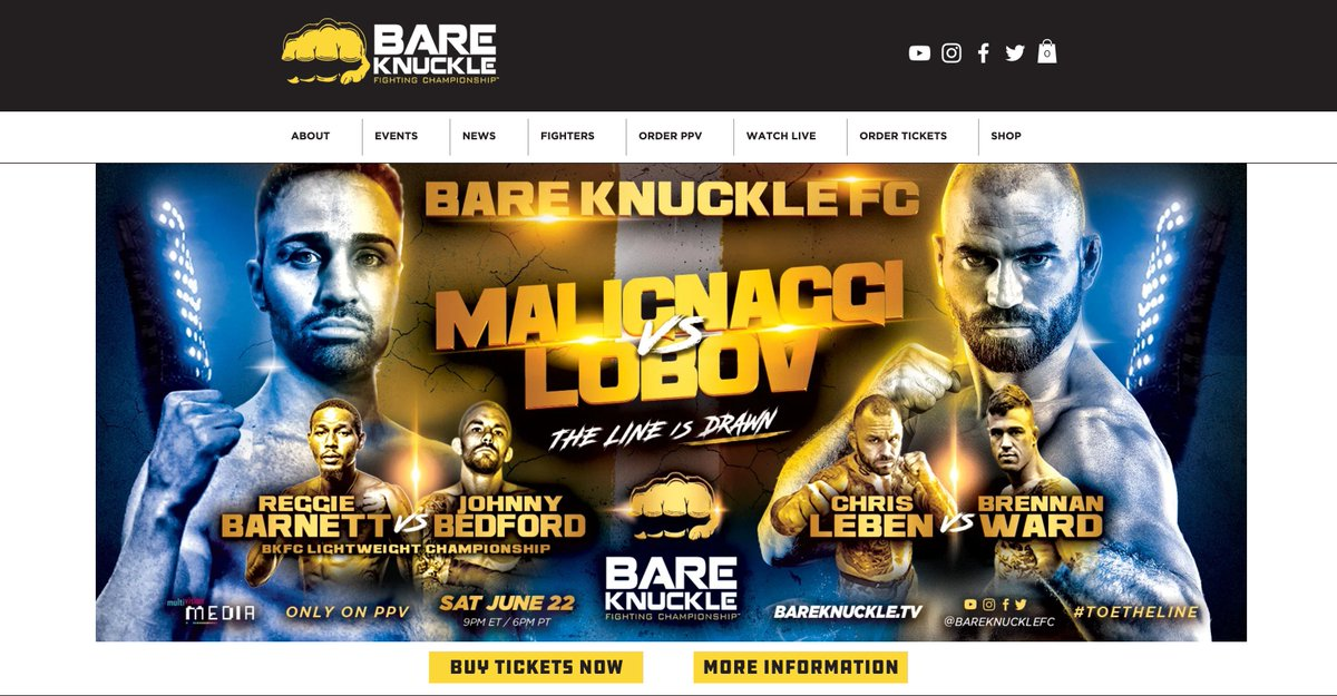 Many people have been me where you can get tickets #BKFC6. The tickets can be purchased now https://www.eventbrite.com/e/bare-knuckle-fighting-championship-6-malignaggi-vs-lobov-tickets-62097369905…. @bareknucklefc @BareKnuckleDF @RusHammerMMA @PaulMalignaggi @ChrisLebenMMA @FiteTV @SwaggleBerryFin #bkb