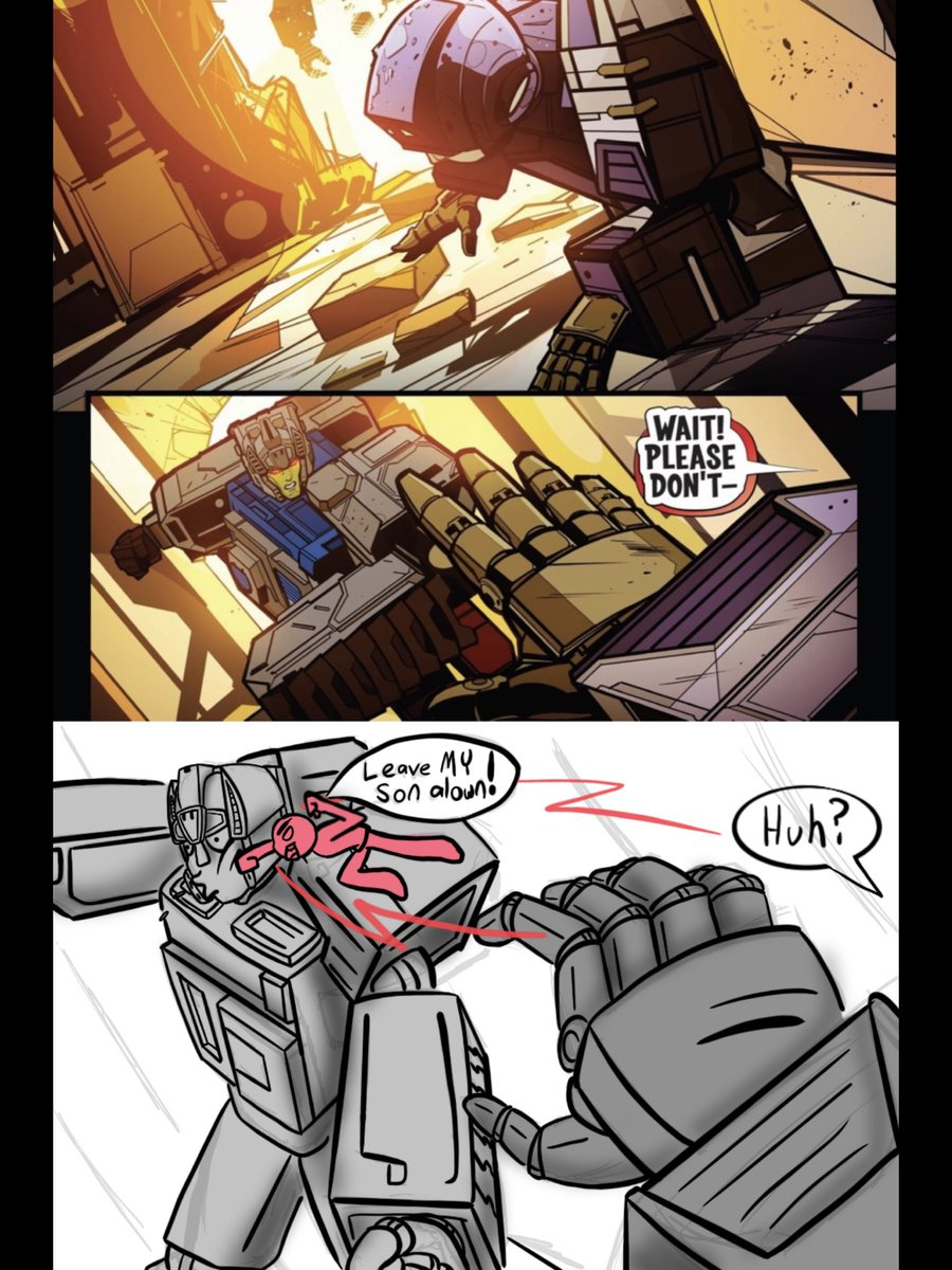 #TRANSFORMERS #IDW I will protect my son with my life. I don't want Rubble to die!