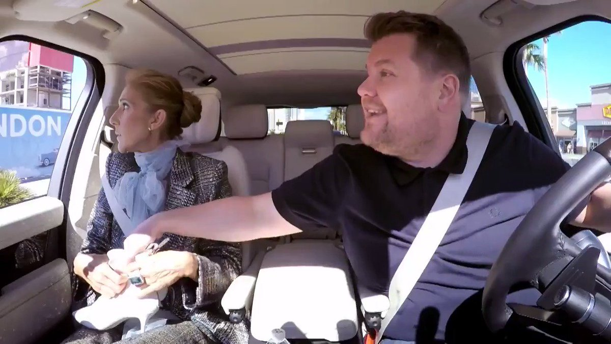 .@JKCorden made @celinedion give away some pairs of her beloved shoes to random folks on the Las Vegas strip 😂😂😂