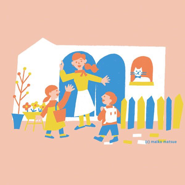 ◯お仕事◯ベネッセさんが運営されているこども英会話教室「BE studio」の先生募集パンフレットのイラストを担当しました。デザインはマルチノーサ さん。direction:mananico/design:yuriko hirata/illustration:maiko matsue #ベネッセ #bestudio #matsuemaiko #illustration