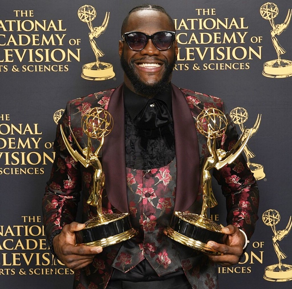 Man what a weekend!!! A crazy Ko and now I just won Two Emmys tonight 🔥🔥🔥 @Showtime we did it baby. Congratulations to all of us and it's a team effort to make the magic happen. Thanks to the whole Showtime family there's more to come.  #BombZquad #TilThisDay #SportsEmmyAwards