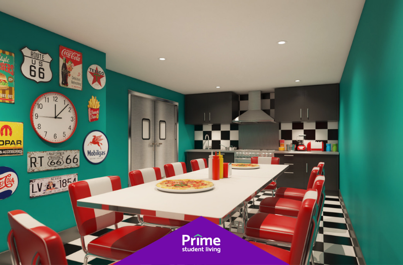 Have you checked out our American Themed Diner at Stanhope House? 🍟🍔 The perfect place to host diner parties, events and pre-drinks 🤩 Head over to our website and book now 👉http://bit.ly/2Pr3Hy2  #Portsmouth #PrimeMoments #PortsmouthUniversity #StudentAccommodation
