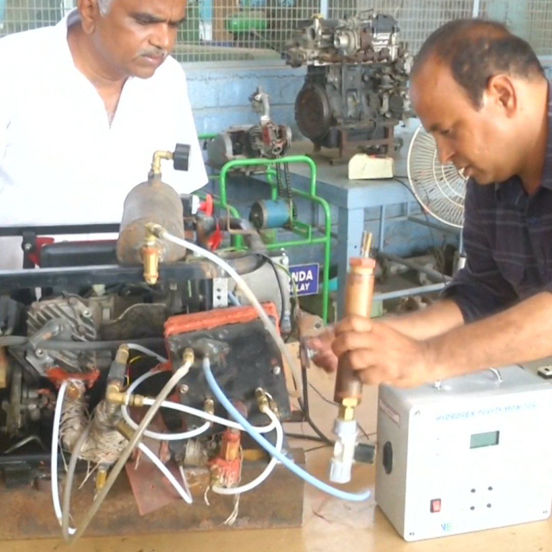 These Indian engineers have invented a hydrogen-powered automobile engine they say emits zero pollutants.