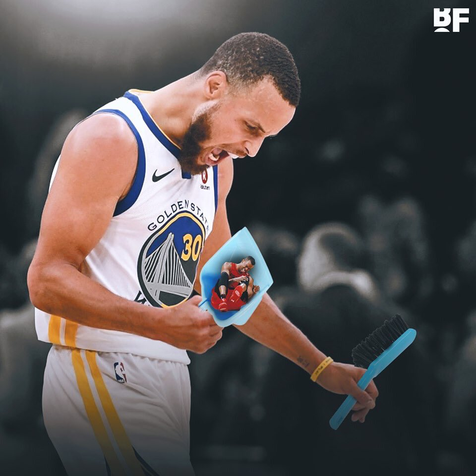 Rodney Hood has been swept by the Golden State Warriors for the third year in a row on three different teams  That's gotta hurt!