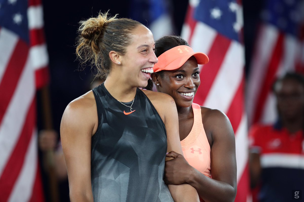 Sloane is one of my best friends on the @WTA tourTo have someone you compete against one moment & laugh with the next can be rare. Her foundation does amazing things & so many kids are lucky to have her in their lives. She always has my back. *Arya for life* #KinderGirlWorldDay