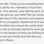 Dear Niki...